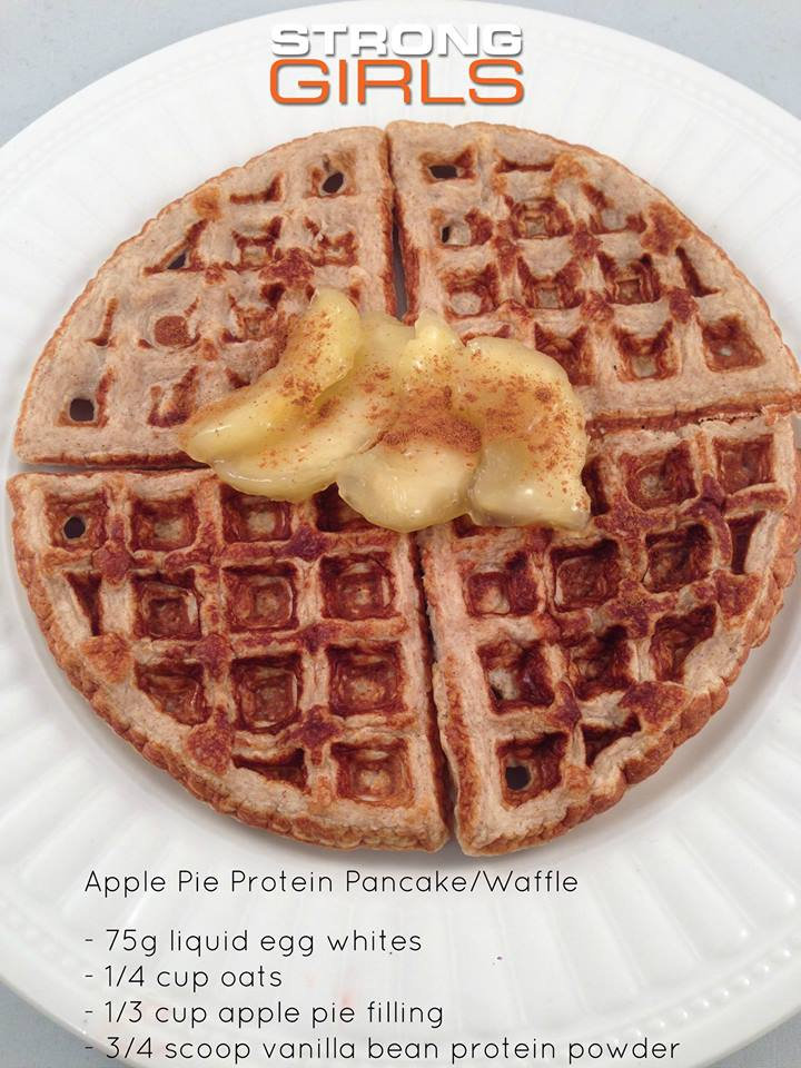 STRONG GIRLS - Apple Protein Pancakes